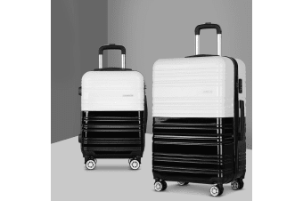 2pc Luggage Sets Suitcase Free Scale Set TSA Hard Case Lightweight