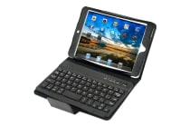 Leather Look Case with Bluetooth Keyboard for iPad Mini
