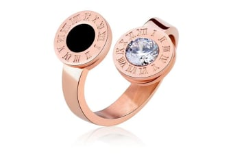 Reminisce Fashion Ring-Rose Gold/Clear Size US 8