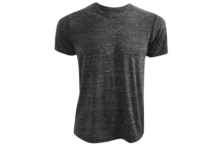 Canvas Unisex Poly-Cotton Short Sleeve T-Shirt (Charcoal Marble) (2XL)