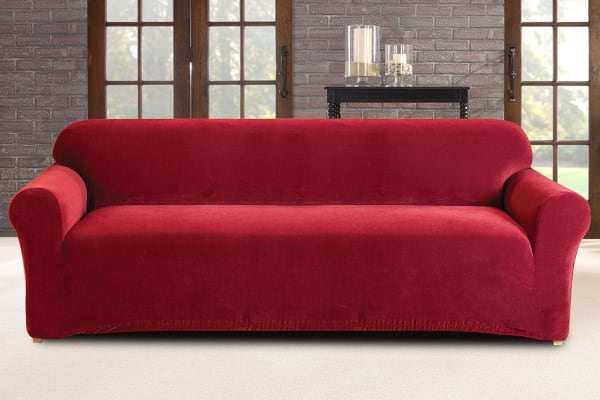 SureFit Pearson Sofa Cover 3 Seater - Red