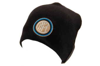 FC Inter Milan Official Adults Unisex Champions League Knitted Hat (Black) (One Size)