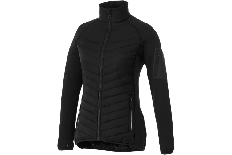 Elevate Womens/Ladies Banff Hybrid Insulated Jacket (Solid Black) (XS)