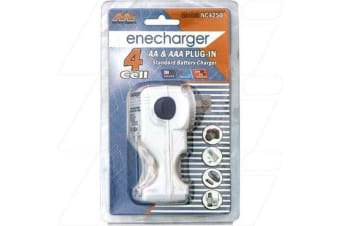 Enecharger Battery Charger for 2 or 4 AA or AAA NiCd NiMH batteries