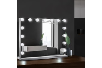 Hollywood Frameless Makeup Mirror With 15 LED Lighted Vanity Beauty