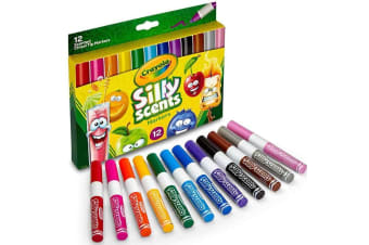 Crayola Silly Scents Chisel Tip Markers 12 Pack