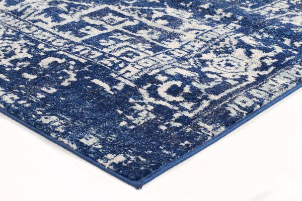 Contrast Navy Transitional Rug 230x160cm