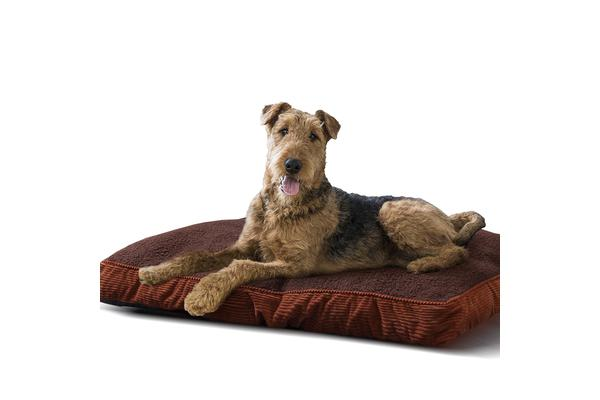 Washable Soft Pet Bed Mattress Cushion BROWN L-Size