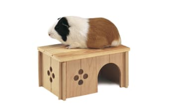Ferplast Sin 4645 Wooden Guinea Pig House (Brown)