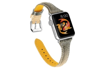 Woman Leather Gradient Color Bands ,Replacement Strap Wristband with Apple Watch Series 5/4/3/2/1 (ROSEGOLDBLACK, 42/44mm)