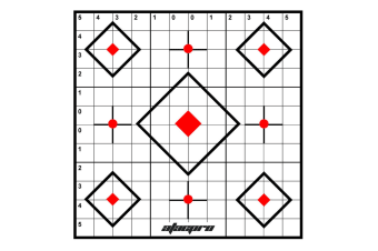 Atac Pro 100yard Crosshair Sighting Targets Range Shooting Rifle Target 20pk
