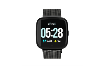 Smart Watch Removable Watchband Bluetooth Watch Call Reminder Heart Rate Black Steel
