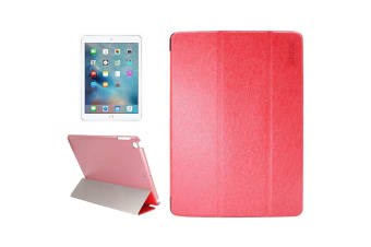 For iPad 2018 2017 Case Elegant Silk Textured Smart Durable Leather Cover Red