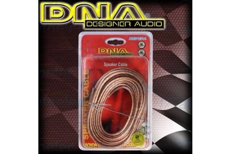 DNA SPEAKER WIRE CABLE 14 GUAGE 12 METRE CAR HOME AUDIO SYSTEM INSTALL AWS1214
