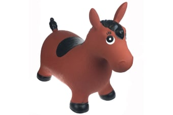 Bouncy Rider Brown Horse Ride On Toy