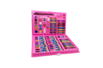 Art Supplies For Drawing,Painting And More In A Plastic Case Pink(86)