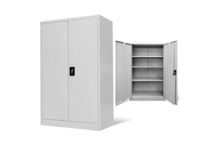 vidaXL Office Cabinet 90x40x140 cm Steel Grey
