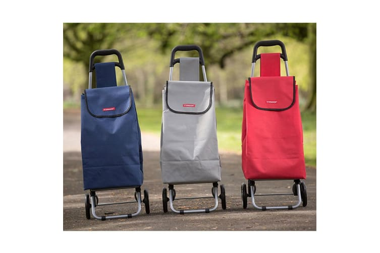 Typhoon Red Navy Grocery Shopping Cart Trolley Portable Foldable Bag Basket