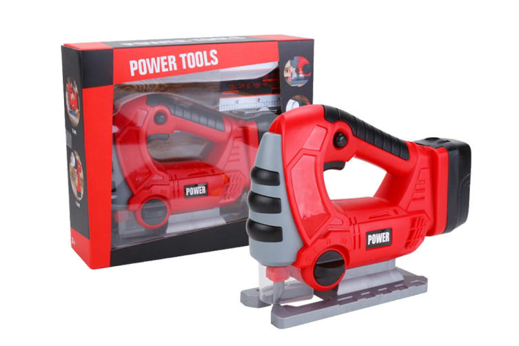 Dad's Little Helper Kids Toy Power Tool Set with Chainsaw, Leaf Blower, Jigsaw & Drill (DLH2019)