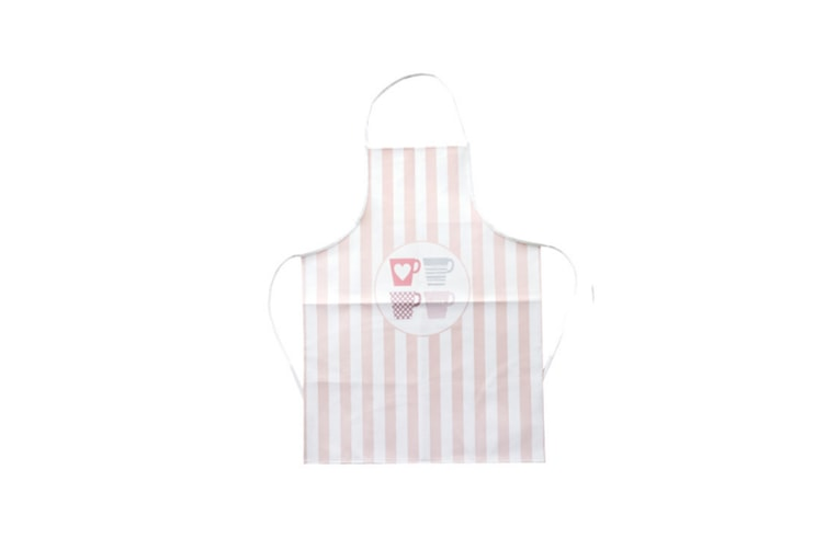 Pu Leather Apron Adult Waterproof And Oil-Proof Adjustable Apron - Cup Pink