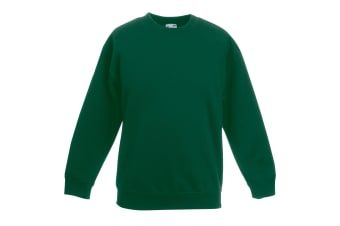 Fruit Of The Loom Kids Unisex Premium 70/30 Sweatshirt (Pack of 2) (Bottle Green) (3-4 Years)
