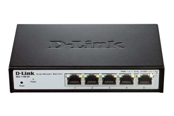D-Link 5 Port Gigabit EasySmart Switch (DGS-1100-05)