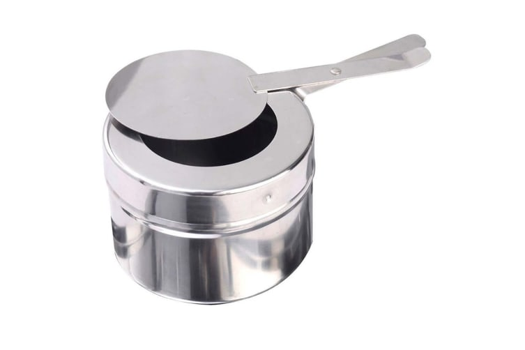 SOGA 2X 6L Round Chafing Stainless Steel Food Warmer with Glass Roll Top