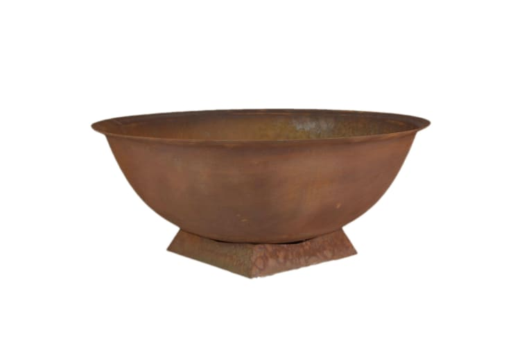 Cast Iron Fire Pit 72cm Mojave Outdoor Fireplace Deep Bowl with Trivet Stand