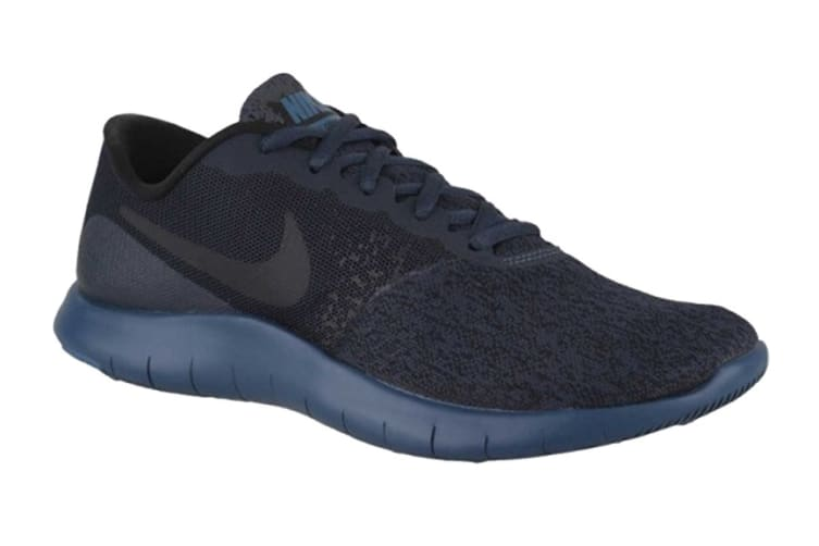 Nike Women's Flex Contact Running Shoes (Armory NavyBlack Blue Force, Size 7 US)