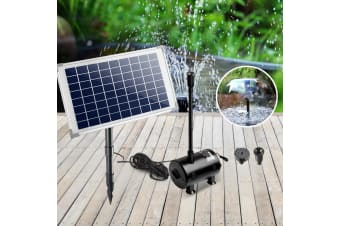 Solar Powered Fountain Submersible Water Pump Pond Kit Garden Panel