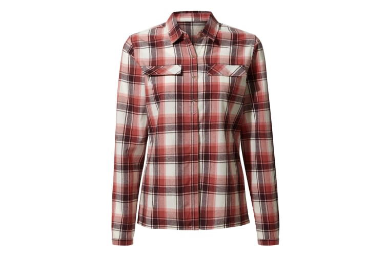 Craghoppers Womens/Ladies Dauphine Long Sleeved Shirt (Rosette Check) (14 UK)