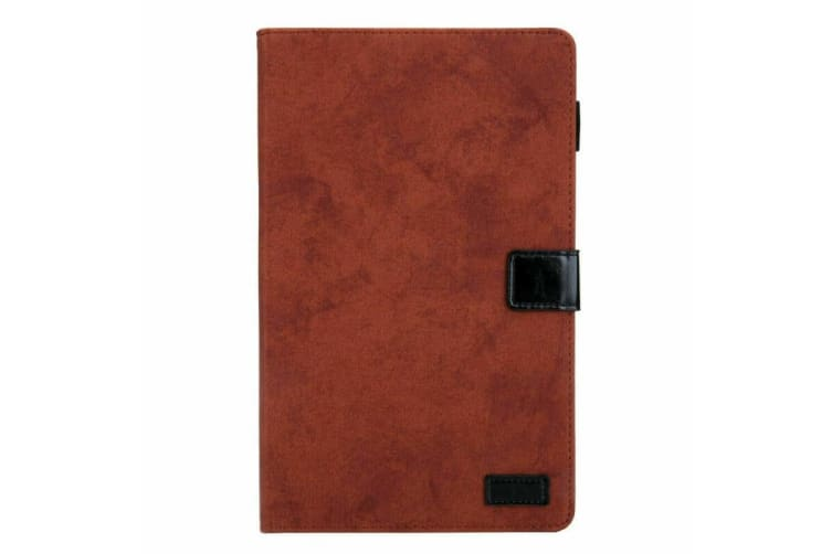 For Galaxy Tab A 10.1(2019)T510/T515 Tablet Flip leather Stand Cover Case-Brown