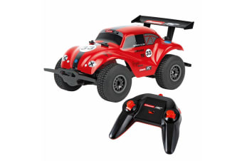 Carrera RC 1:18 VW Beetle, Off-Road 2.4 GHz USB Charge - Red