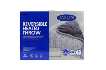 Jason Reversible Plush Heated Throw (Charcoal /Grey)