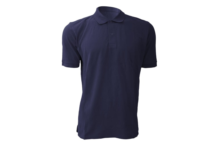 Russell Mens 100% Cotton Short Sleeve Polo Shirt (French Navy) (S)