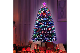 Christmas Tree Xmas Fibre Optic LED Green MULTI COLOUR 1.5m 5Ft