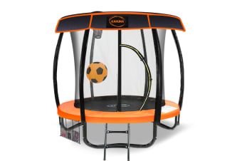Kahuna Trampoline 6ft with Basketball set & Roof - Orange