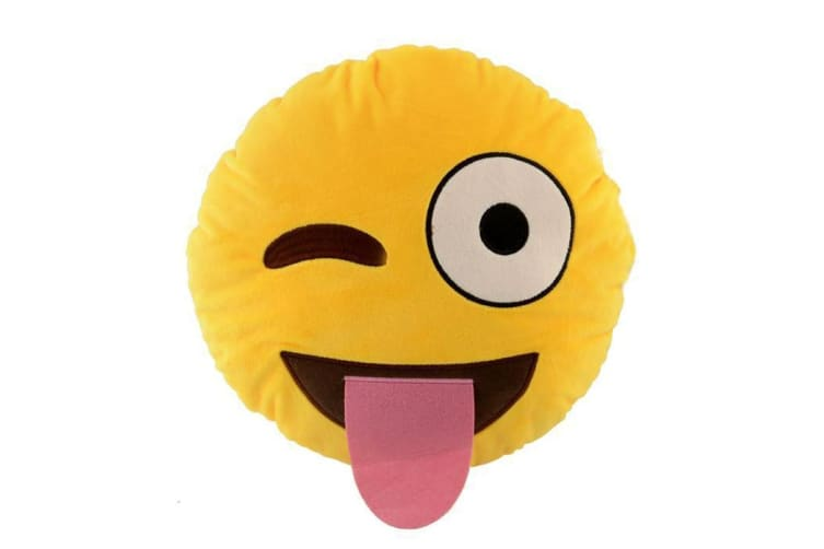 Emoji Pillows - Winking with Tongue Out