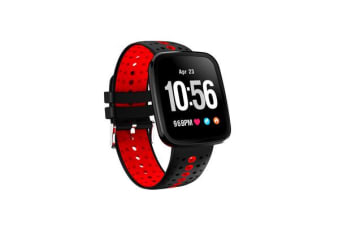 TODO Bluetooth V4.0 Smart Watch 0.96 Oled Heart Rate Blood Pressure Ip67 Red