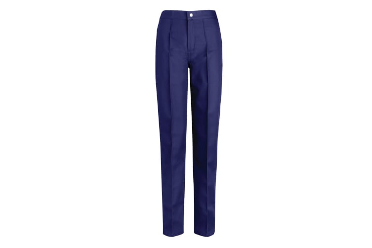 Alexandra Womens/Ladies Flat Front Trousers (Navy Blue) (22)