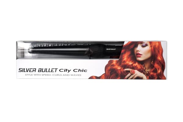 Silver Bullet City Chic Black Ceramic Conical Curling Iron - 19mm-32mm  (900679)