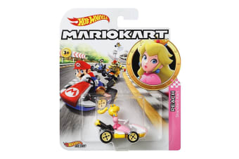 Hot Wheels Super Mario Kart 1:64  Diecast Peach Standard Kart