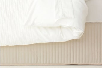 Ardor Quilted Valance Stone - Double Bed