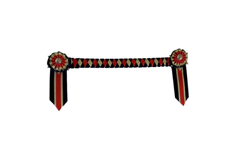 ShowQuest Boston Brow Band (Navy/Red/Gold) (Cob)