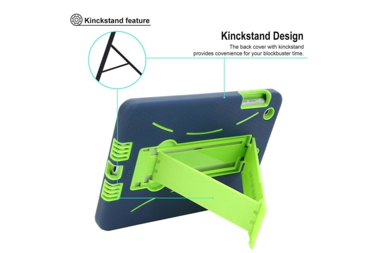Kids Shockproof Case Heavy Duty Tough Kick Stand Cover For iPad 5th 9.7 Inch 2017-Type4-RoseRedMint
