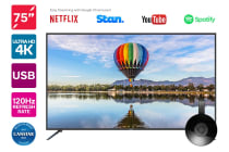"Kogan 75"" 4K LED TV (Series 8 KU8000) including Google Chromecast"