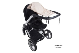 Playette Sunshade UPF50 Plus Protection for Baby Stroller/Pram Sun Shade Beige