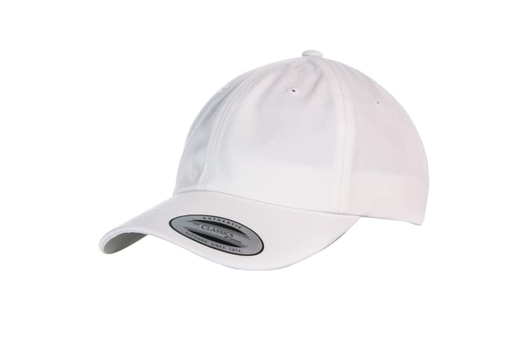 Yupoong Flexfit 6-panel Baseball Cap With Buckle (Pack of 2) (White) (One Size)