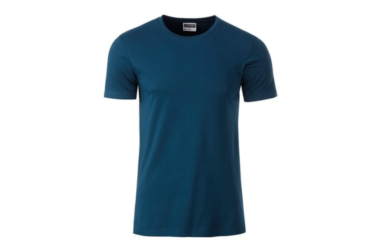 James and Nicholson Mens Basic T-Shirt (Petrol Blue) (S)