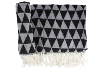 Soft Acrylic Throw | Pyramid Pattern | 2 Assorted Colours